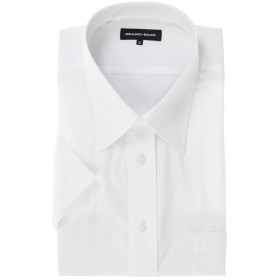 【10%OFF】 タカキュー グランバック/GRAND BACK 形態安定レギュラーカラー半袖シャツ メンズ ホワイト GB-3L 【TAKA-Q】 【タイムセール開催中】