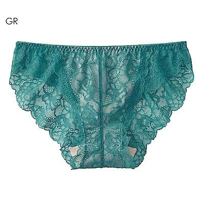 aimerfeel 蕾絲無痕內褲-綠色-170721-GR
