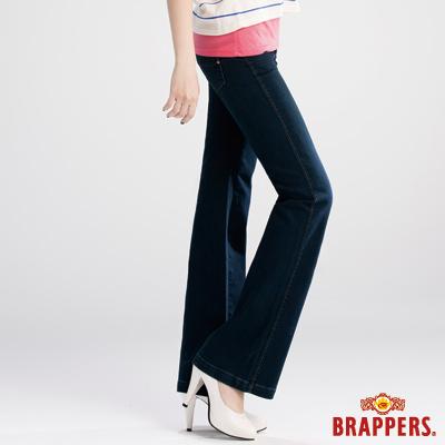 BRAPPERS 女款 新美肌二代系列-彈性大喇叭褲-深藍