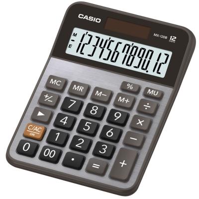 CASIO 12位數桌上型計算機-黑X灰(MX-120B)