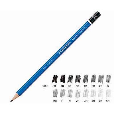 STAEDTLER 施德樓 100頂級藍桿繪圖鉛筆 12支入