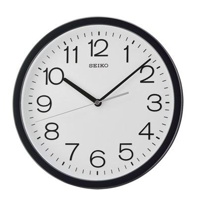 SEIKO 日本精工 標準鐘 掛鐘(QXA693K)黑/31.1cm