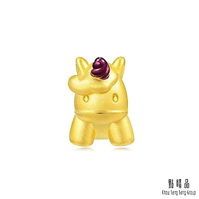 點睛品 999純金 Charme 獨角獸 黃金串珠