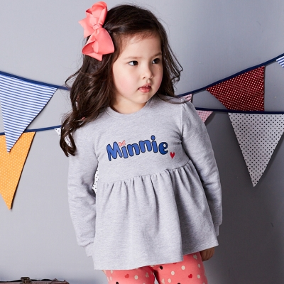 Disney 米妮系列俏皮甜心毛圈上衣 (共2色)