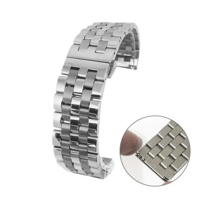 PARNIS BOX 22mm 代用錶帶 快拆鋼帶 不鏽鋼 亮霧混合