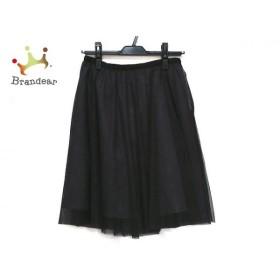 アプワイザーリッシェ Apuweiser-riche スカート サイズ2 M レディース 美品 黒 シースルー   スペシャル特価 20191003