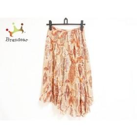 ロイスクレヨン Lois CRAYON ロングスカート サイズM レディース ブラウン×ベージュ×マルチ   スペシャル特価 20190922