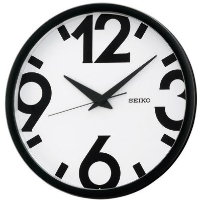 SEIKO 日本精工 設計風 滑動式秒針 靜音掛鐘 時鐘(QXA476A)白/31cm
