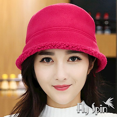 FLYSPIN 刷毛絨加厚防風格紋冬帽+護臉面罩