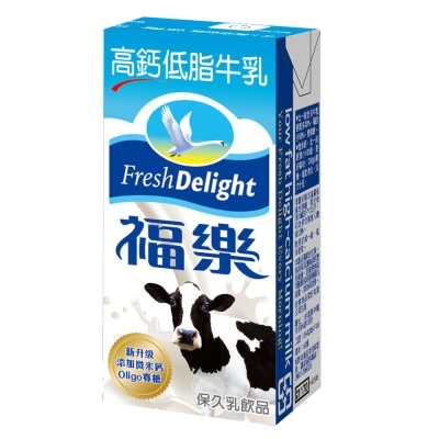 福樂 高鈣低脂口味保久乳(200mlx24入)
