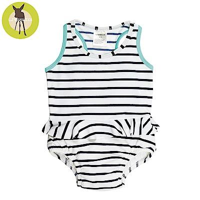 德國Lassig-嬰幼兒抗UV連身式泳裝-海軍條紋