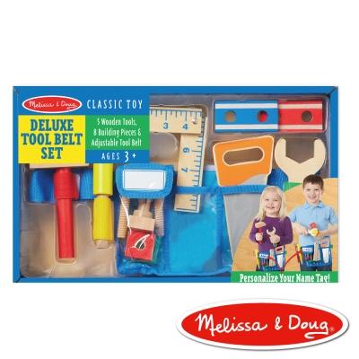 美國瑪莉莎 Melissa & Doug 玩食趣-豪華木製工具腰帶組
