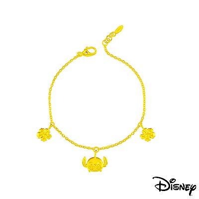 Disney迪士尼系列金飾 黃金手鍊 仲夏風情史迪奇款
