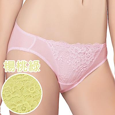 思薇爾 花伶系列M-XL蕾絲低腰三角內褲(楊桃綠)