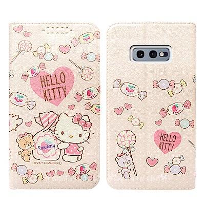 三麗鷗授權 Samsung Galaxy S10e 粉嫩系列彩繪磁力皮套(軟糖)