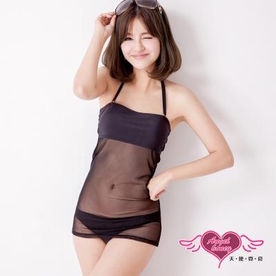 天使霓裳 窈窕時尚 二件式泳衣(黑M~XL)