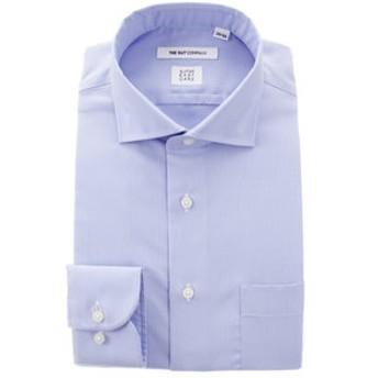 【THE SUIT COMPANY:トップス】【SUPER EASY CARE】ホリゾンタルカラードレスシャツ 織柄〔EC・FIT〕