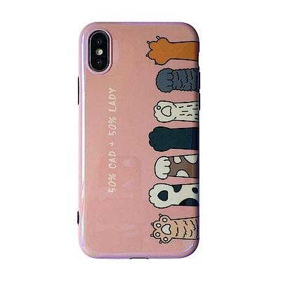 【TOYSELECT】iPhone Xs Max 烤瓷貓掌粉嫩手機殼