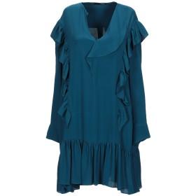 《セール開催中》.TESSA レディース ミニワンピース&ドレス ディープジェード 40 アセテート 69% / シルク 31%