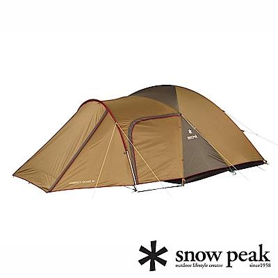 Snow Peak 新款 Amenity 6人寢室鋁合金家庭露營帳蓬 SDE-003RH