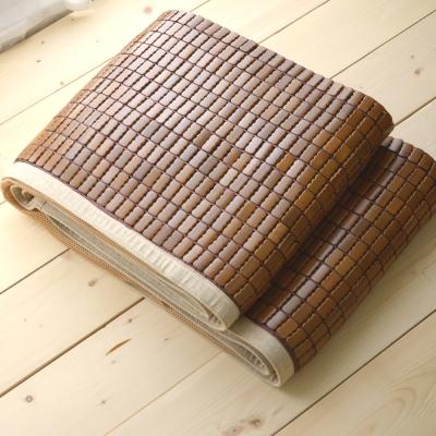 絲薇諾 涼蓆 雙人5尺 淺色邊 3D透氣包邊炭化專利麻將涼蓆 竹蓆