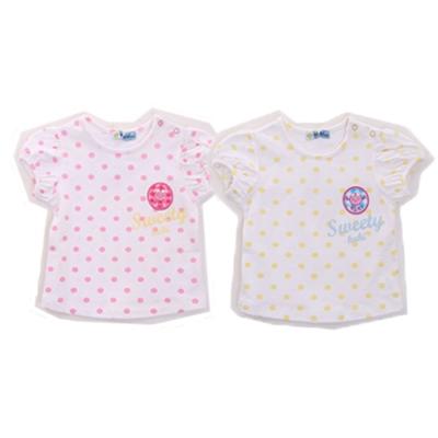 魔法Baby 點點短袖T恤(2件一組) k50142