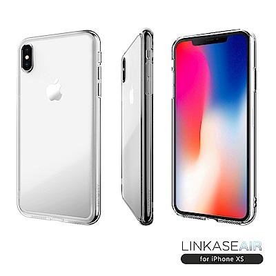 LINKASE AIR iPhone XS/X 大猩猩9H康寧玻璃防摔保護殼-全透明