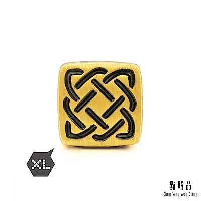 點睛品 999純金 Charme XL 酷黑系列 守護 黃金串珠