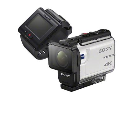 4K 高畫質 全新使用者介面讓攝影機操作更直覺化 隨附防水殼 MPK-UWH1,可深潛達水下 60 公尺 商品組合含:FDR-X3000、RM-LVR3(新即時檢視遙控器)