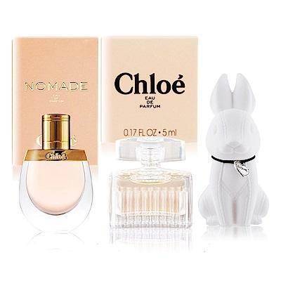 Chloe 隨行香水任選兩入5mlX2[同名/極緻/芳心之旅]+擴香石(隨機)