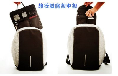 A款/b款旅行雙肩包中包 旅行雙肩包女內膽包背包韓版書包包中包整理袋整理包大容量收納袋