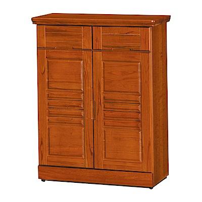 綠活居 尼圖時尚2.7尺實木二門鞋櫃/玄關櫃-81x39x105cm-免組