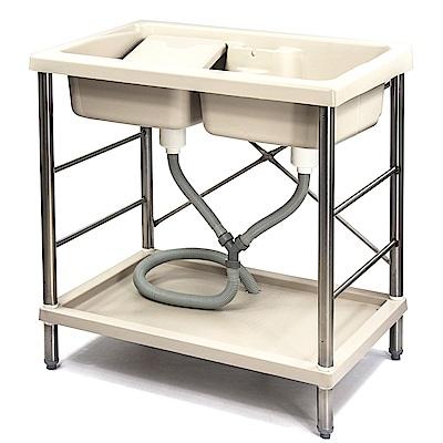 Aaronation 新型雙槽塑鋼洗衣槽 GU-A1001-1