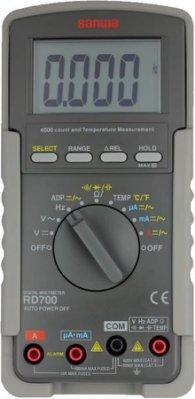 [捷克科技] 日本 SANWA RD 700 多功能數位電錶 蜂鳴 讀值鎖定 測溫度 專業儀錶電錶
