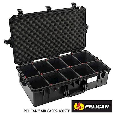 美國 PELICAN 1605AirTP 超輕氣密箱-含TrekPak 隔板(黑)