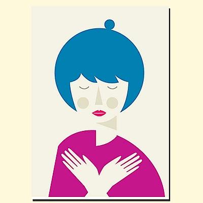 摩達客 西班牙知名插畫家Judy Kaufmann創作版畫掛畫-和平