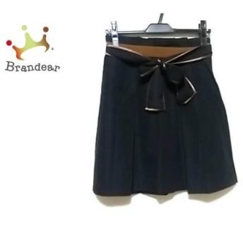 アプワイザーリッシェ Apuweiser-riche スカート サイズ2 M レディース 美品 黒×ダークブラウン 新着 20190618