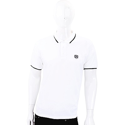 KENZO Tiger 虎頭刺繡白色POLO衫(男款)