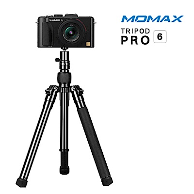 MOMAX Tripod PRO 6 鋁合金自拍棒三腳架130cm(手機/相機用)