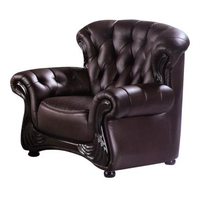 品家居 瓦卡特咖啡皮革沙發單人座-109x80x90cm-免組