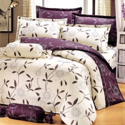 艾莉絲-貝倫 花香樂譜 100%純棉 雙人鋪棉床罩六件組
