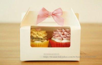 AM好時光【M30】純白透明開窗 西點禮品手提盒 附2格內托❤婚禮小物 布丁杯子 糖霜藝術蛋糕餐盒 烘焙點心 手工餅乾袋