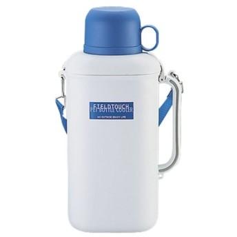 CAPTAINSTAG(キャプテンスタッグ) 抗菌ペットボトル用クーラー(保冷剤付)2.0L(ホワイト×ブルー) M1487