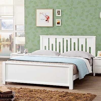 D&T德泰傢俱 MARIE白色北歐實木5尺單人床-157.5x199x100cm