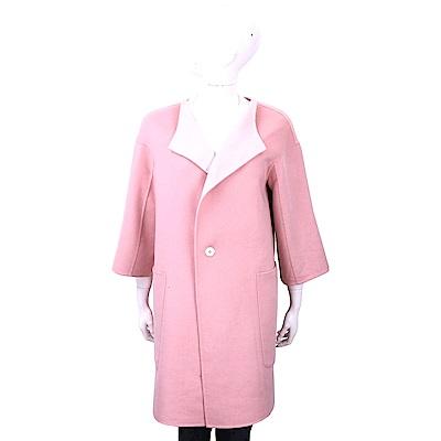 JIL SANDER 粉色雙面穿喀什米爾羊毛大衣(100%CASHMERE)