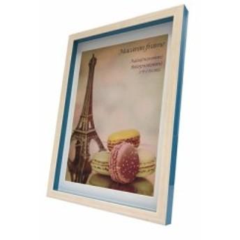 フォトフレーム マカロン フレーム Macaron frame Blue A4(B5サイズマット付) 23.3×32×2.5cm ギフト 装飾 インテリア 取寄品