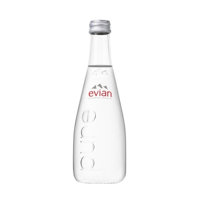 evian依雲 天然礦泉水玻璃瓶(330mlx20入)