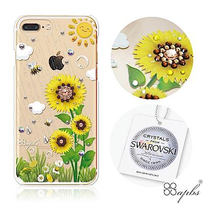 apbs iPhone8/7 Plus 5.5吋施華洛世奇彩鑽手機殼-元氣朝陽