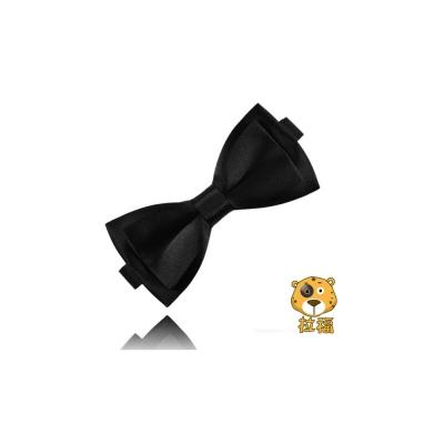 拉福 正裝大小折雙層領結新郎結婚領結糾糾 (黑色)