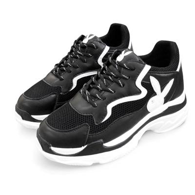 PLAYBOY Snatch兔兔老爹鞋 黑白 Y5266C1